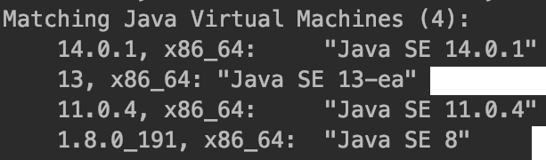 Switching JDK (Java) Versions in Mac OS X